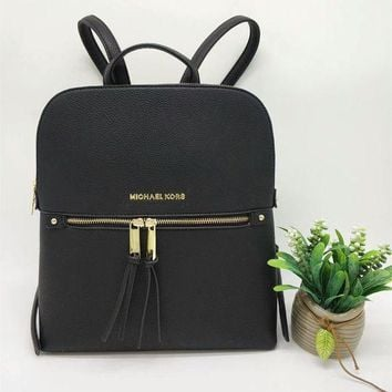 ESBON Michael Kors' Simple Fashion All-match Backpack MK Women Double Shoulder Bag