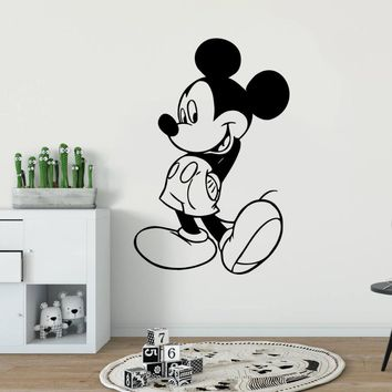 Kids Room Decor Mickey Mouse Wall Sticker Cartoon Character Wall Decal Nursery Decor Removable Mickey Mouse Wall Poster AY1398