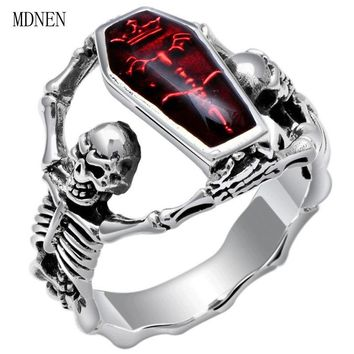 American and European hot selling retro taiyin vampire bat skull ring male style punk style ring A-0410