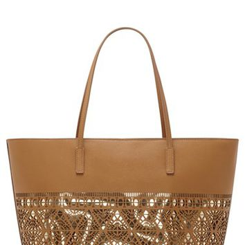 Vince Camuto 'Lila' Perforated Leather Tote