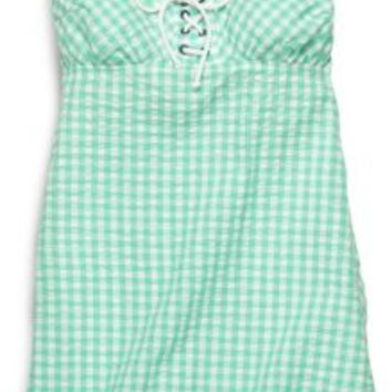 Sperry Top-Sider Gingham Sundress SeafoamGreen, Size S  Women's