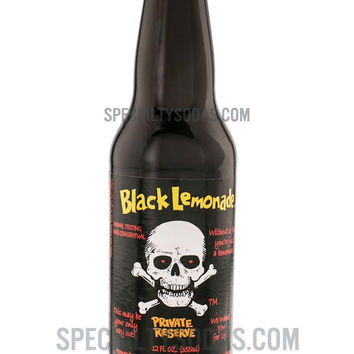 Black Lemonade Private Reserve Soda 12oz Glass Bottle