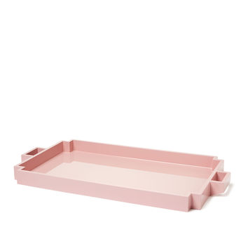 Sparrow Lake Deco Serving Tray - Pink