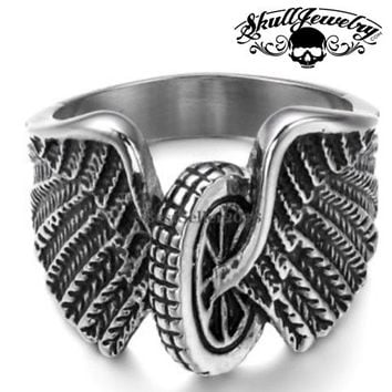"""""""Hell On Wheels"""" Stainless Steel Ring (479)"""