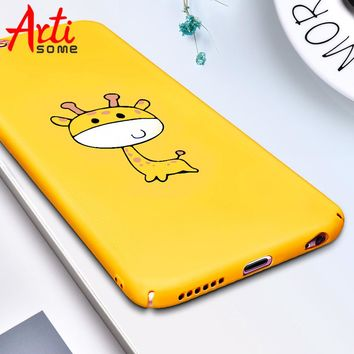 Fashion Cute Case For iPhone X 7 8 6 6S Case Pineapple Giraffe Fruit Animal Phone Cases Hard PC Back Cover For iPhone 6 7 8 Plus