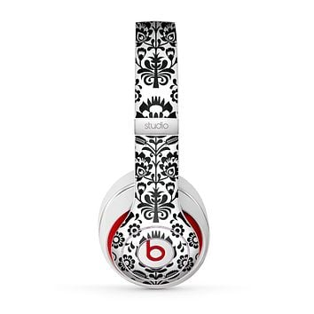 The Black Floral Delicate Pattern Skin for the Beats by Dre Studio (2013+ Version) Headphones