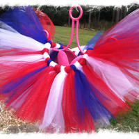 Glitzy July 4th TuTu-TuTu Skirt-Red, Blue, White TuTu-4th of July TuTu Skirt-SZ 3mo-24mo