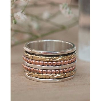 Carol Meditation Spinner Ring (BJS004)