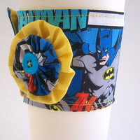 Batman Coffee Cup Cozy / DC Comic Book Drink Sleeve / Superhero