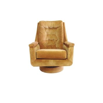 Pre-owned Mid-Century Swivel Rocking Club Chair