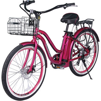 X-Treme Malibu Step Through Beach Cruiser Electric Bicycle Bike Pink NEW