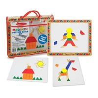 Melissa & Doug Deluxe Wooden Magnetic Pattern Blocks Set