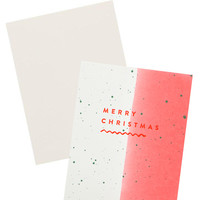 Merry Christmas Dipped Card