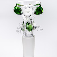 water bong bowl 14mm male glass fittings glass bowl bong replacement built in pinch screen green - Adapterrlman