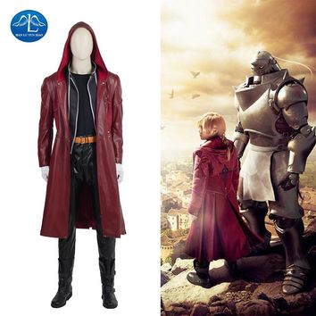 MANLUYUNXIAO New Men's Fullmetal Alchemist Cosplay Costume Edward Elric Costume Cosplay Game Japanese High Quality Custom Made