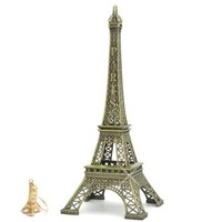 Metal Eiffel Tower Replica Statue of Paris 12 inch Eiffel Tower Statues for Home, Office and Parties (comes with gold Eiffel Tower Key chain)