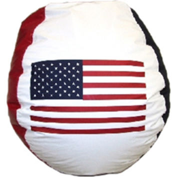 Bean Bag Boys Vinyl Bean Bag Chair in USA Flag