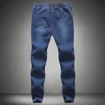 Mens Elastic Waist and Ankle Pants