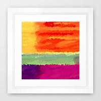 Elements Framed Art Print by Fringeman Abstracts | Society6