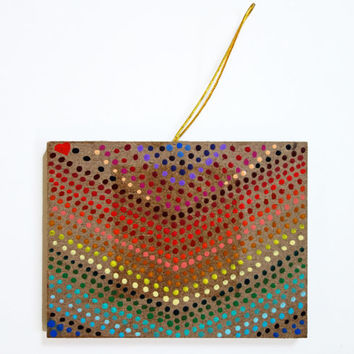 Dotted Rainbow Chalkboard Ornament