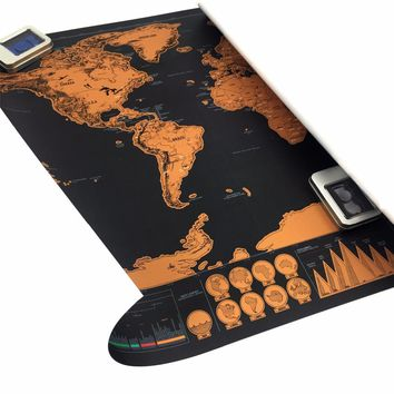 Single-piece package the world map
