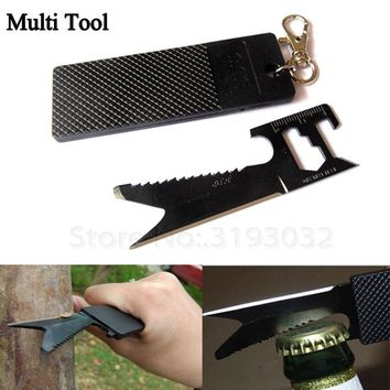 Multitool Camp Equipment Self Defense Weapon Bushcraft Outdoor Hike Gear Keychain Emergencey Tool Card Knife Safety Survival Kit