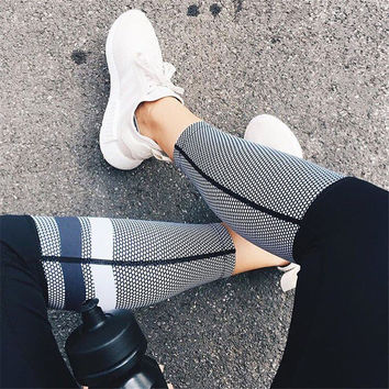 Women Gauze Outdoors Stretch Yoga Sports Pants Trousers Sweatpants