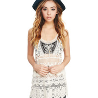 Tiered Crochet Tunic | Wet Seal