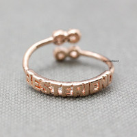 Infinity Best friend Knuckle Ring / BEST FRIEND Infinity Ring / Infinite ring / best friends ring / friendship ring - color(*Pink gold*)