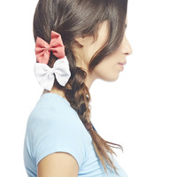 Large Chiffon Bow Clip 2-Pack | Wet Seal