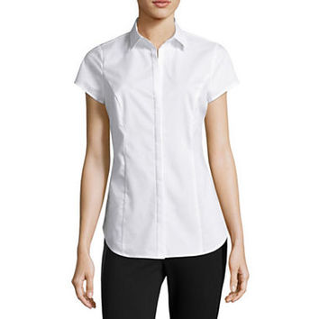 Worthington® Short-Sleeve Shirt - Tall