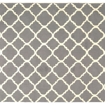 Montauk Rug, Dove Gray/Ivory, Area Rugs