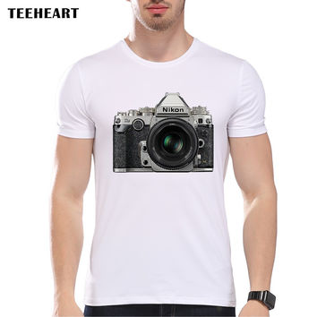 Summer Fashion CAMERA IN THE RAW  Design T Shirt Men's High Quality   Tops Hipster Tees