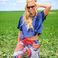 The Essential Crop Top - Navy