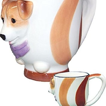 StealStreet SS-D-DC210, Jack Russell Terrier Collectible Dog Puppy Cup Porcelain Coffee Mug