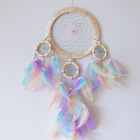 DreamCatcher Boho Dreamcatcher Handmade Wall Hanging Home Decor Feathers Colourful Dreamcatcher Coloured  Gypsy