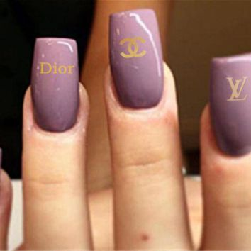 ONETOW Chanel, LV, Dior Fashion nail jewelry stickers Three combinations of styles