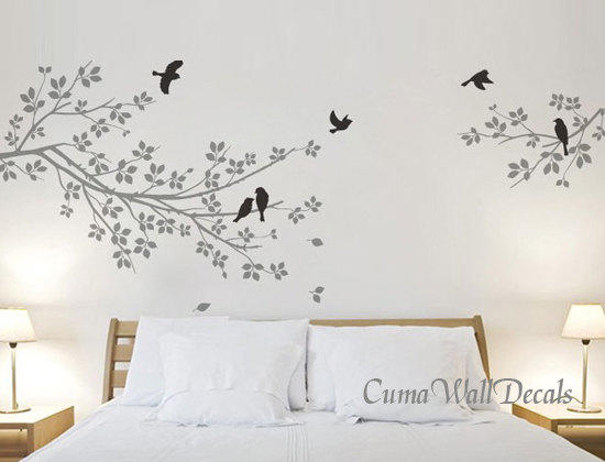 Tree And Bird Wall Decals Nursery Wall Sticker Branch Vinyl Wall Decal  Children Wall Decals Nature