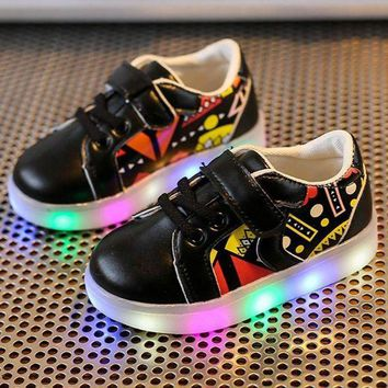 LMFIW1 LED Luminous Child Toddler Casual Colorful Light Shoes kids boys girls