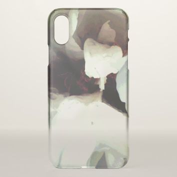 Cool bloomed White flower texture iPhone X Case