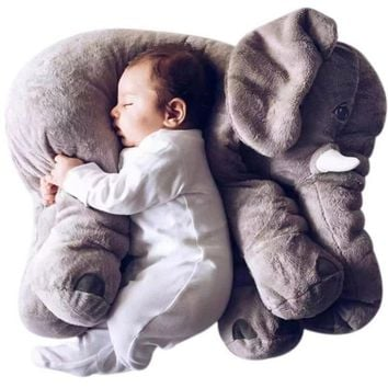 Colorful Giant Elephant Stuffed Animal Toy Pillow