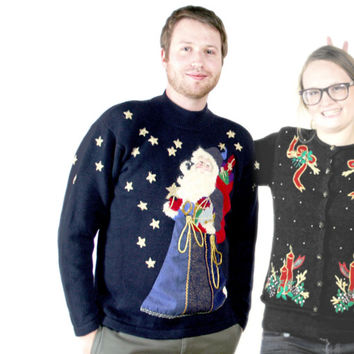 Olde World Santa Tacky Ugly Christmas Sweater - The Ugly Sweater Shop