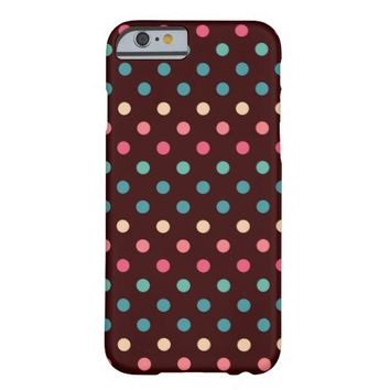 Trendy Classic Fashion Colorful Polka Dot Pattern Barely There iPhone 6 Case