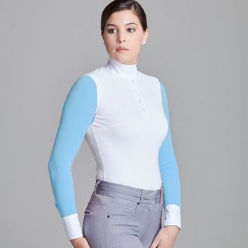 Le Fash White w Skly Blue Paulo Alto Long Sleeve