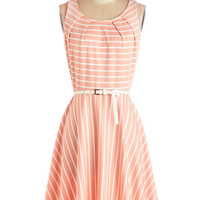 ModCloth Mid-length Sleeveless A-line C'mon FC*te Happy Dress in Rose