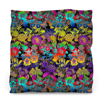 LSD Floral Outdoor Throw Pillow
