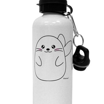 Cute Seal Aluminum 600ml Water Bottle by TooLoud