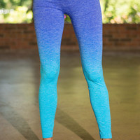 Chakra Value Yoga Pants, Blue