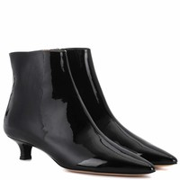 Coco patent leather ankle boots