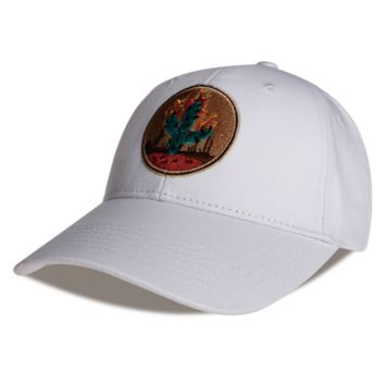 White Cactus Embroidered Cotton Hat Outdoor Baseball Cap